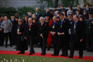 Master Jack Broadley attends the Service of Remembrance at St Paul's